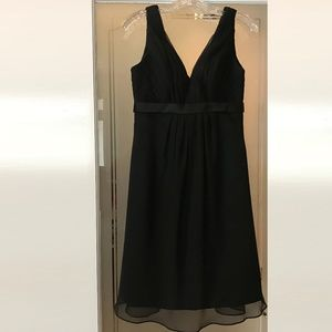 DaVinci Formal Black Dress Sheer Overlay Size 8